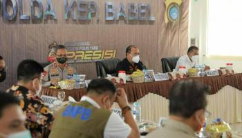 Hadapi PPKM Level IV, Gubernur Erzaldi: Koordinasi Harus Kuat