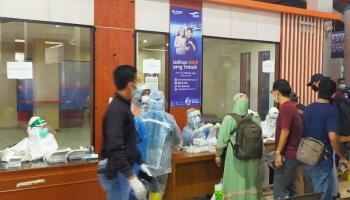Hasil Rapid Tes Penumpang di Pelabuhan Tanjung Kalian Non Reaktif