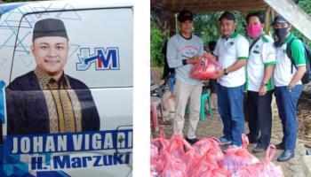 HKTI Babar Berbagi Sembako, Johan Vigario: Saatnya Yang Muda Berbuat