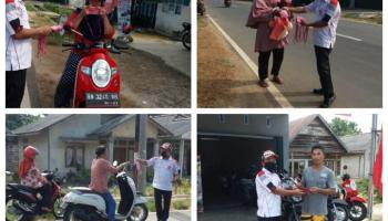 Honda Daya Motor Tempilang Bagikan Masker Gratis