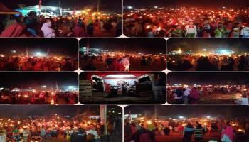 Honda TDM Road Show Adat Pawai Obor di Kelapa