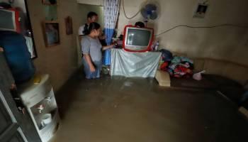 Hujan Lebat Guyur Pangkalpinang, Puluhan Rumah Warga Digenangi Banjir