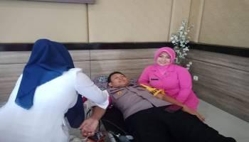 HUT Bhayangkara ke 73, Polres Babar Gelar Donor Darah