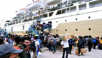 Imbas Kenaikan Harga Tiket Pesawat, Penumpang Angkutan Laut Babel Naik 105,01 Persen