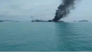 Inilah Video Kondisi Kapal Isap Produksi KM Krakatau Tin Pasca Kebakaran