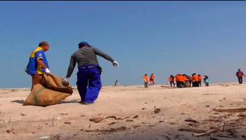 Inilah Video Serunya Gerakan Bersih Pantai dan Laut di Pantai Rebo