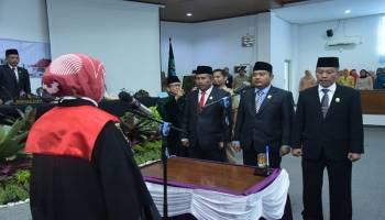 Iskandar Resmi Dilantik Jadi Ketua DPRD Bangka