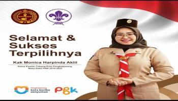 Istri Walikota Terpilih Sebagai Ketua Kwartil Gerakan Pramuka, Monica Pengen Pramuka Pangkalpinang Jadi Andalan