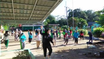 Jaga Kebugaran Pegawai, Puskesmas Simpang Rimba Gelar Senam Pagi Bersama