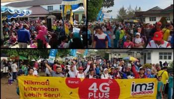 Jalan Sehat Perayaan HUT PGRI di Merawang Meriah