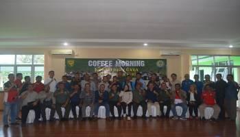 Jalin Keakraban, Korem 045/Gaya Gelar Coffee Morning Bersama Insan Pers