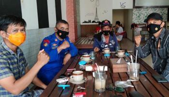 Jalin Sinergitas, HNSI Bangka Silaturahmi dengan Kasatpolair Polres Bangka