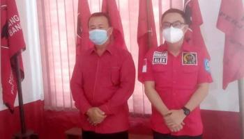 Jalin Sinergitas, Ketua DPC PDIP Bangka Terima Kunjungan Silaturahmi Alexander Fransiskus
