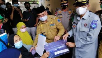 Jasa Raharja Babel Serahkan Santunan Korban Sriwijaya Air SJ 182