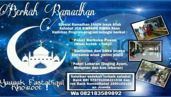 JCA Simpang Rimba Hadirkan Program Berkah Ramadhan, Yuk Ikut Berpartisipasi