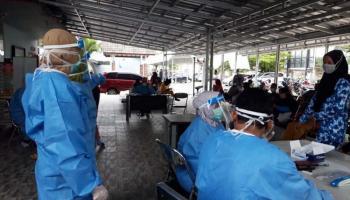 Jelang Pencoblosan Semua Saksi di Simpang Katis Lakukan Rapid Test, Dua Reaktif