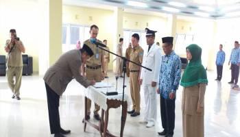Justiar Lantik 17 Pejabat Pemda, Ahmad Rasyid Pegang Posisi Sekretaris DPKPLH
