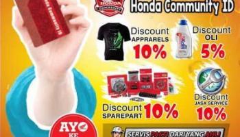 Kabar Gembira, Banyak Diskon Bagi Pemilik Honda Community ID