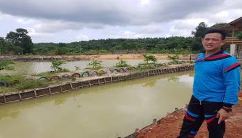 Kades Bukit Layang Sulap Lahan Bekas Tambang Menjadi Agrowisata Mini