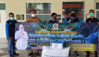 Kagama Babel Peduli, Bantu APD dan Masker untuk Lima Rumah Sakit Rujukan