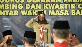 Kakwarda Melati Erzaldi Lantik Pengurus Kwartir Cabang Bangka 2017-2022