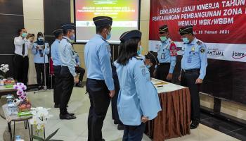 Kantor Imigrasi Pangkalpinang Canangkan Komitmen Bebas Korupsi dan Birokrasi Bersih