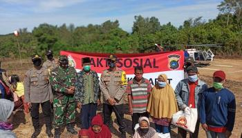Kapolres Bangka Barat Bakti Sosial di Desa Pebuar Telaga Tujuh