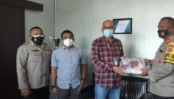Kapolres : Kualitas Masker BRI Cabang Toboali Produk Lokal Sangat Baik