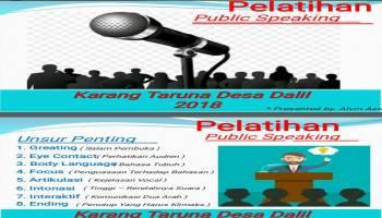 Karang Taruma Desa Dalil Gelar Pelatihan Public Speaking Bagi Pemuda Desa