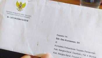 KASN Perintahkan Bupati Bangka Barat Mengembalikan Jabatan Des Kurniawan