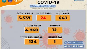 Kasus Covid-19 di Bangka Tengah Meningkat, Hari Ini 24 Pasien