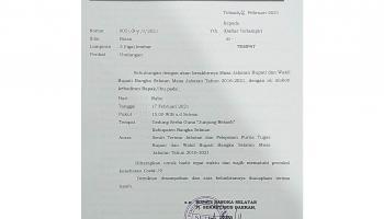Kasus Covid-19 Meningkat, Pemkab Basel Gelar Sertijab Bupati dan Wabup dengan Prokes