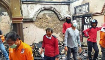 Kebakaran Pasar Muntok Diduga Akibat Korsleting Listrik di Lantai Atas Ruko