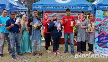 Promosikan Produk Olahan, Forum UMKM Ikuti Bazar Dalam Kegiatan Adu Sepida On Time
