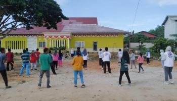 Kelompok KKN UBB Desa Kimak Selenggarakan Jumat Sehat