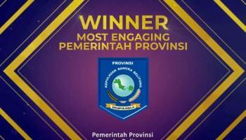 Kembali Tuai Prestasi, Pemprov Babel Raih Most Engaging dalam GSM Awards 2020