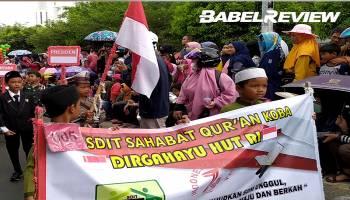 Kemeriahan Pawai Karnaval HUT RI Ke-74 Kabupaten Bangka Tengah