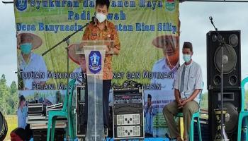 Kadis Pertanian Bangka : Keberhasilan Desa Banyuasin Dapat Dijadikan Contoh Desa Lain