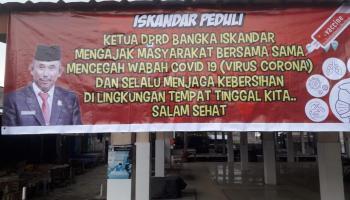 Ketua DPRD Bangka Ajak Masyarakat Peduli Cegah Covid-19