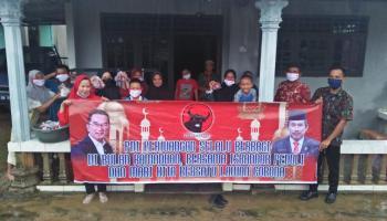 Ketua DPRD Bangka Bagikan 500 Takjil Dan 100 Masker Bagi Masyarakat