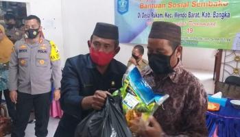 Ketua DPRD dan Bupati Bangka Salurkan Bantuan Sembako Tahap III