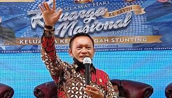 Ketua DPRD Herman Suhadi Hadiri Peringatan Harganas Di Pulau Nangka