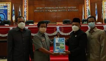 Ketua DPRD Herman Suhadi Terima Penyerahan RAPBD Perubahan TA 2021