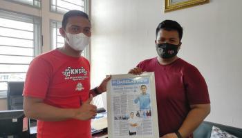 Ketua KNPI Pangkalpinang Dapat Cinderamata, Febri: Kecil Tapi Membekas di Hati