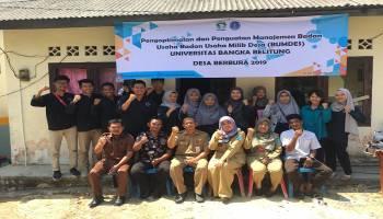 KKN Tematik UBB dan Dinsos Pemdes Bangka Beri Edukasi kepada BUMDes Desa Berbura