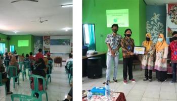 KKN Tematik UBB Sosialisasikan Pentingnya Protokol Kesehatan ke masyarakat Kelapa Kampit