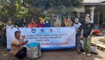 KKN UBB Belinyu Demo Pembuatan Kompos dan Penanaman Toga ke Masyarakat