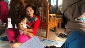 KKN UBB Desa Kurau Survei ke Masyarakat Terkait Perilaku Pencegahan Covid-19