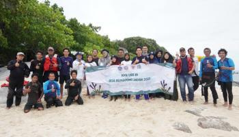 KKN UBB Romodong Indah Gaet PT Timah Tbk Poles Pulau Putri Agar Lebih Menggoda