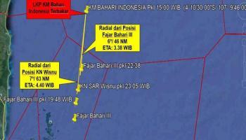 KM Bahari Indonesia Terbakar di Perairan Belitung, Para ABK Dievakuasi ke Kalimantan